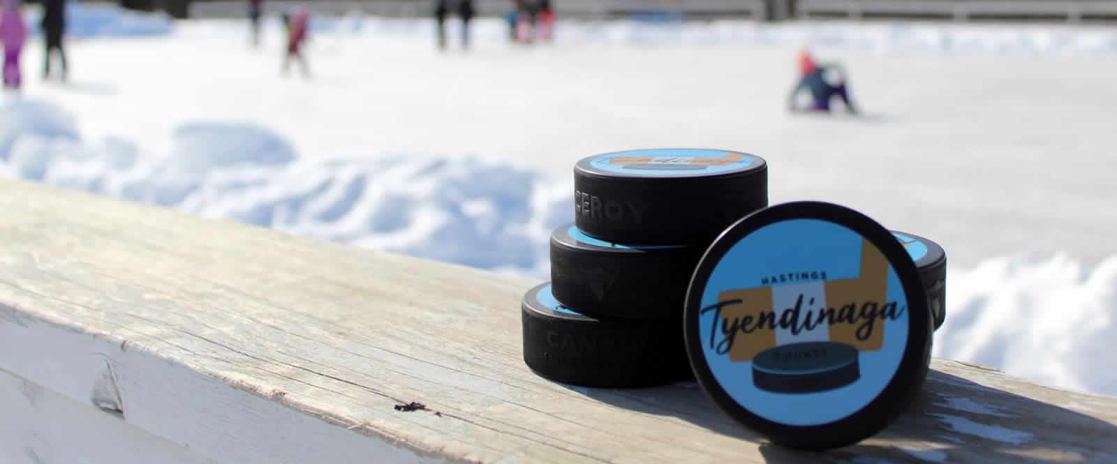 skating rink and tyendinaga pucks