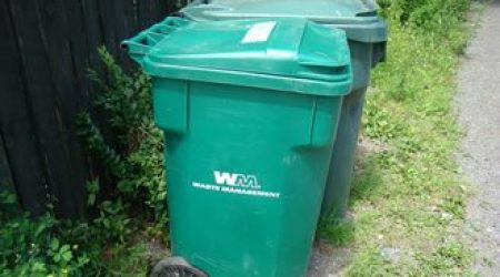 Green garbage containers